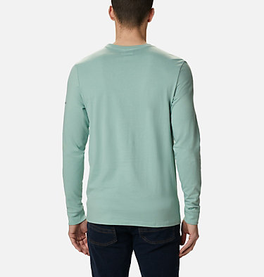 Men's Outer Bounds™ Long Sleeve T-shirt Outer Bounds™ LS Graphic Tee | 345 | S, Aqua Tone Lined Skyview, back