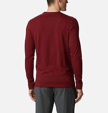 Men's Outer Bounds™ Long Sleeve T-shirt Outer Bounds™ LS Graphic Tee | 345 | S, Red Jasper Lined Skyview, back