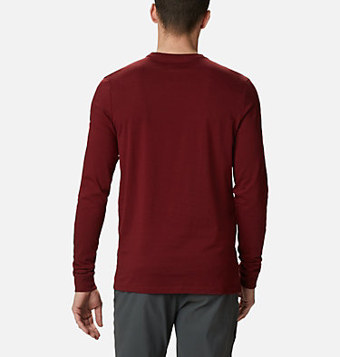 Men's Cades Cove™ Long Sleeve Graphic Tee Cades Cove™ LS Graphic Tee | 011 | L, Red Jasper Jagged Peak, back