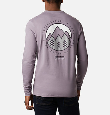 T-shirt Cades Cove Long Sleeve Graphic da uomo Cades Cove™ LS Graphic Tee | 011 | S, Shale Purple Outdoor Park, back