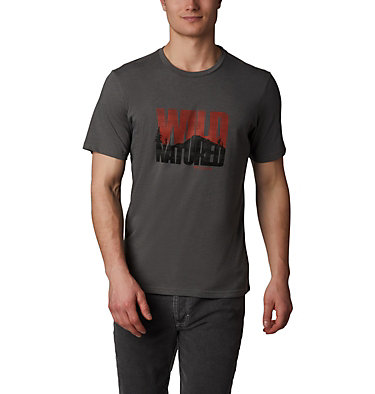 Men's Teihen Trails™ Graphic Tee Teihen Trails™ SS Graphic Tee | 613 | L, Charcoal Heather, Wild Natured, front