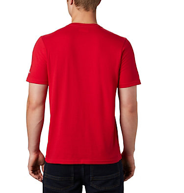 Men's Teihen Trails™ Graphic Tee Teihen Trails™ SS Graphic Tee | 613 | L, Mountain Red, On Trail, back