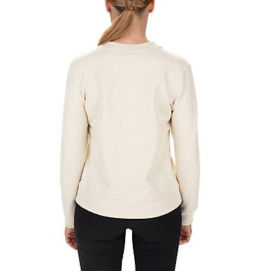 Sudadera de cuello redondo Columbia Lodge para mujer W Columbia Lodge™ Crew | 191 | L, Chalk Heather, back