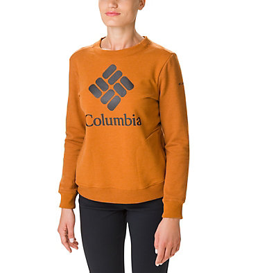 Women's Columbia Lodge Crew Sweatshirt W Columbia Lodge™ Crew | 191 | L, Caramel, front