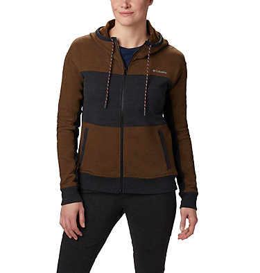 Felpa con cappuccio Columbia Lodge Full Zip da donna Columbia Lodge™ Full Zip | 023 | S, Black, Olive Green, front