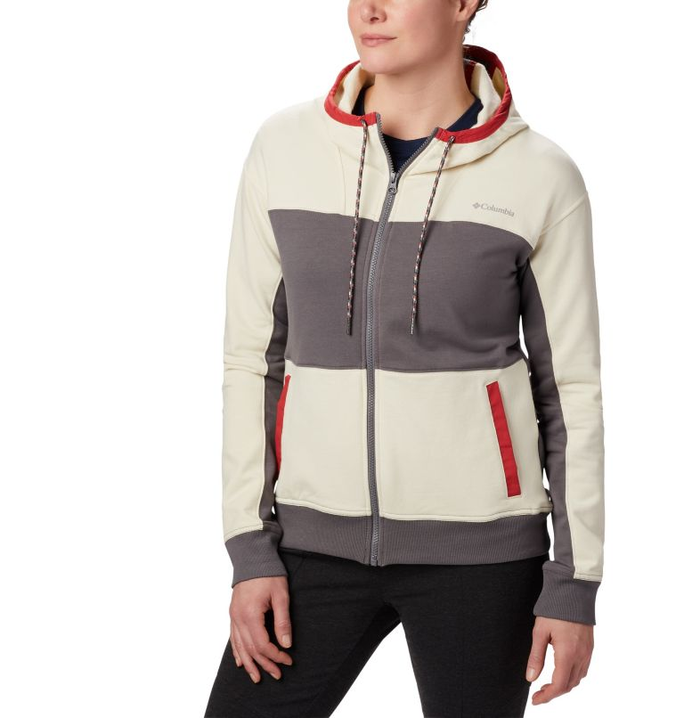 Columbia Lodge™ Full Zip | 023 | XL Columbia Lodge Full Zip Hoodie für Damen, City Grey Heather, Chalk Heather, front