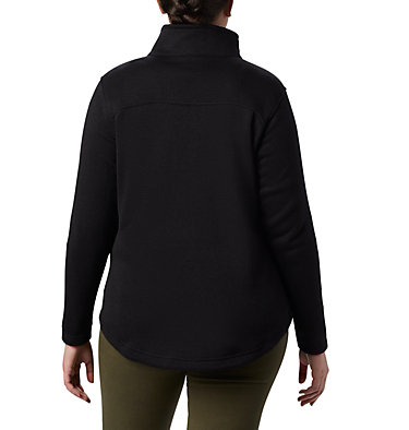 Femme Chandail en laine polaire à fermeture éclair Canyon Point™ pour femme Canyon Point™ Fleece F | 010 | 1X, Black, back