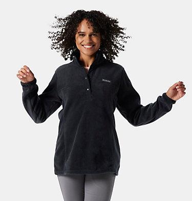 Pullover con cierre medio a presión Benton Springs™ para mujer Benton Springs™ 1/2 Snap Pullover | 604 | S, Black, front