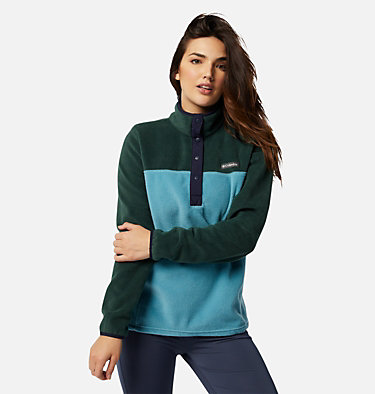 Women's Benton Springs™ Half Snap Pullover Benton Springs™ 1/2 Snap Pullover | 604 | XL, Spruce, Canyon Blue, front