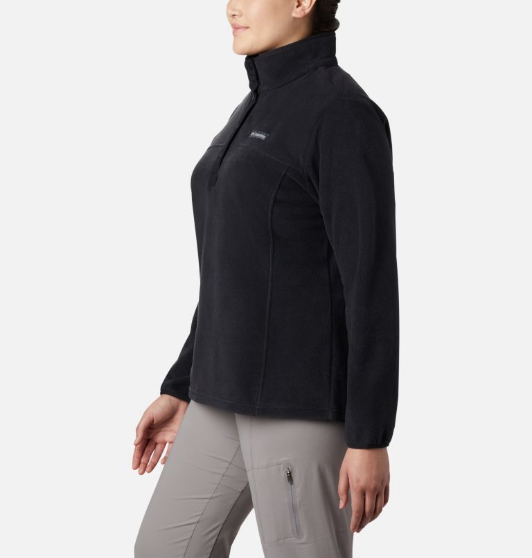 Benton Springs™ 1/2 Snap Pullover | 010 | 1X Women's Benton Springs™ 1/2 Snap Pullover - Plus Size, Black, a1