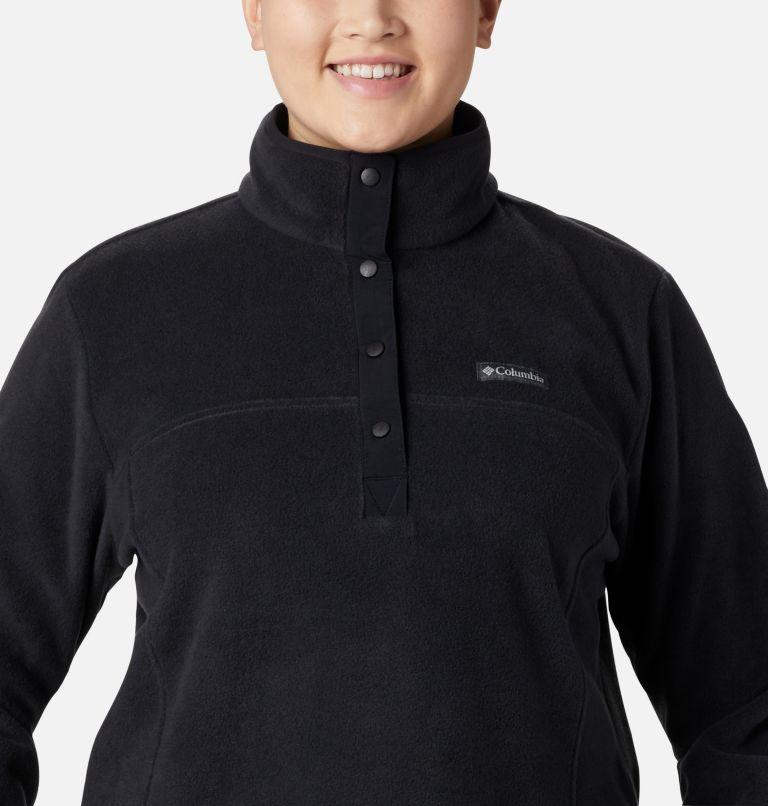 Benton Springs™ 1/2 Snap Pullover | 010 | 1X Women's Benton Springs™ 1/2 Snap Pullover - Plus Size, Black, a2