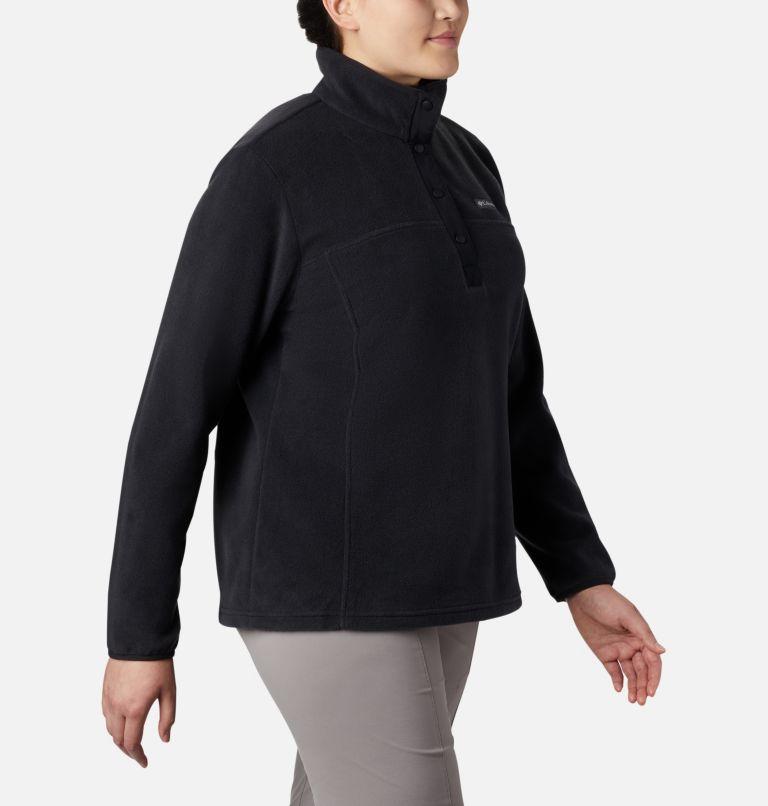 Benton Springs™ 1/2 Snap Pullover | 010 | 1X Women's Benton Springs™ 1/2 Snap Pullover - Plus Size, Black, a3
