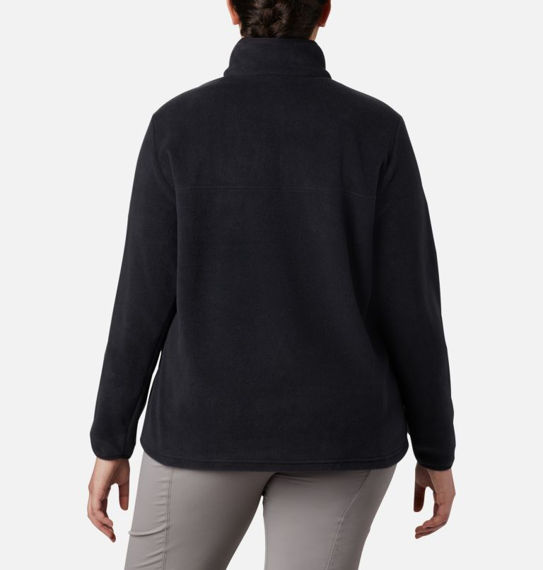 Benton Springs™ 1/2 Snap Pullover | 010 | 3X Women's Benton Springs™ Half Snap Pullover - Plus Size, Black, back