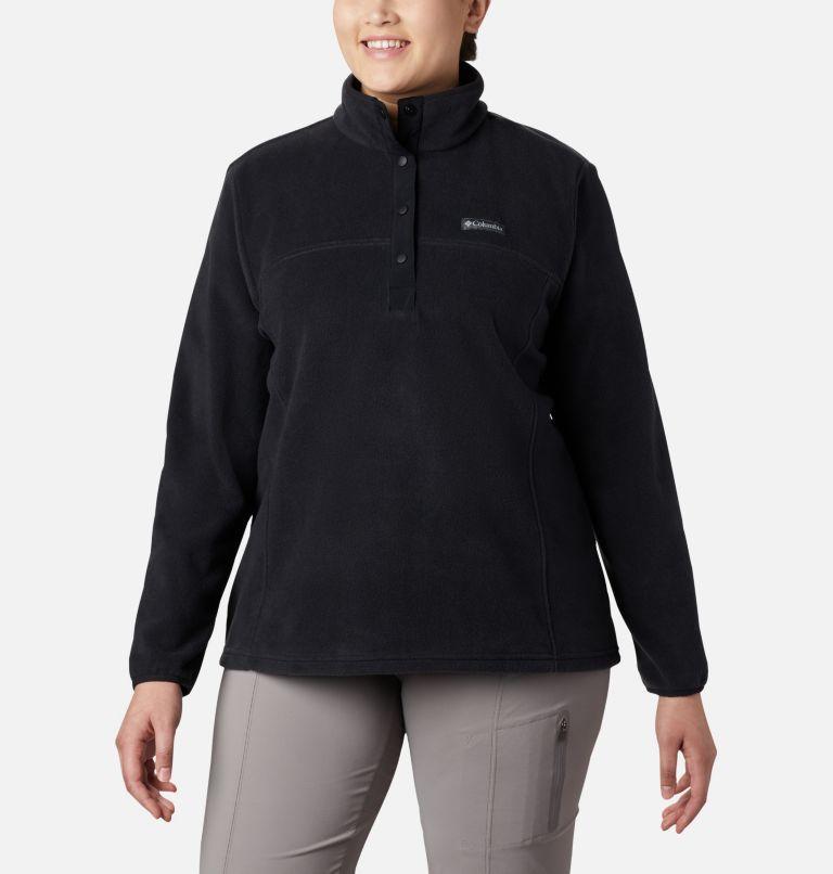 Benton Springs™ 1/2 Snap Pullover | 010 | 1X Women's Benton Springs™ 1/2 Snap Pullover - Plus Size, Black, front