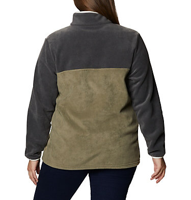 Women's Benton Springs™ Half Snap Pullover - Plus Size Benton Springs™ 1/2 Snap Pullover | 671 | 1X, Shark, Stone Green, back