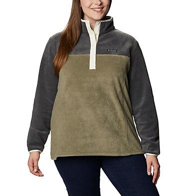 Women's Benton Springs™ Half Snap Pullover - Plus Size Benton Springs™ 1/2 Snap Pullover | 671 | 1X, Shark, Stone Green, front