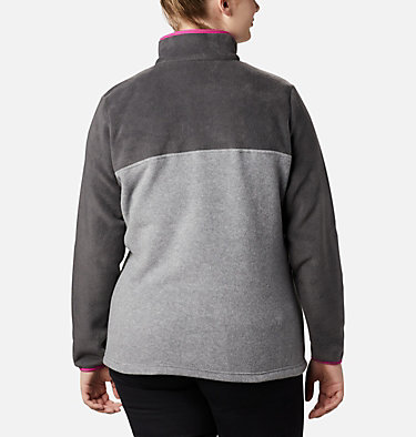 Women's Benton Springs™ Half Snap Pullover - Plus Size Benton Springs™ 1/2 Snap Pullover | 671 | 1X, Light Grey Heather, Shark, back