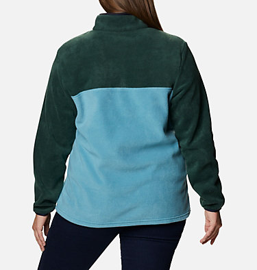 Women's Benton Springs™ Half Snap Pullover - Plus Size Benton Springs™ 1/2 Snap Pullover | 671 | 1X, Spruce, Canyon Blue, back