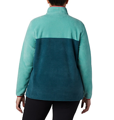Women's Benton Springs™ Half Snap Pullover - Plus Size Benton Springs™ 1/2 Snap Pullover | 671 | 1X, Dark Seas, Copper Ore, back