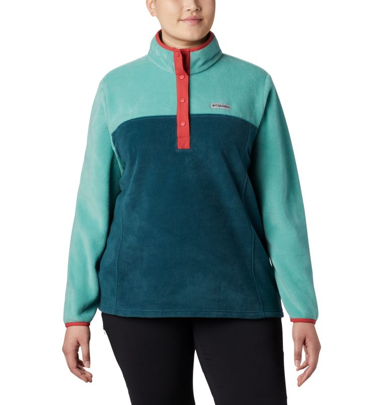 Women's Benton Springs™ Half Snap Pullover - Plus Size Women's Benton Springs™ Half Snap Pullover - Plus Size, front