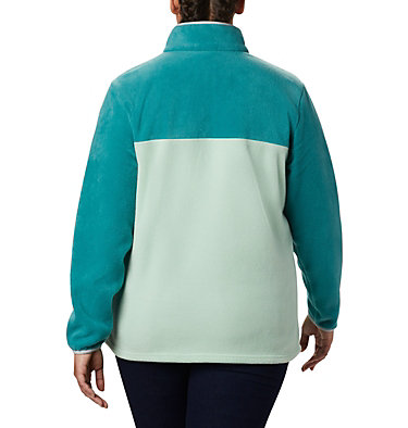 Women's Benton Springs™ Half Snap Pullover - Plus Size Benton Springs™ 1/2 Snap Pullover | 671 | 1X, New Mint, Waterfall, back