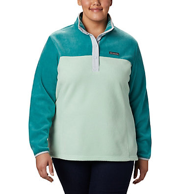 Women's Benton Springs™ Half Snap Pullover - Plus Size Benton Springs™ 1/2 Snap Pullover | 671 | 1X, New Mint, Waterfall, front