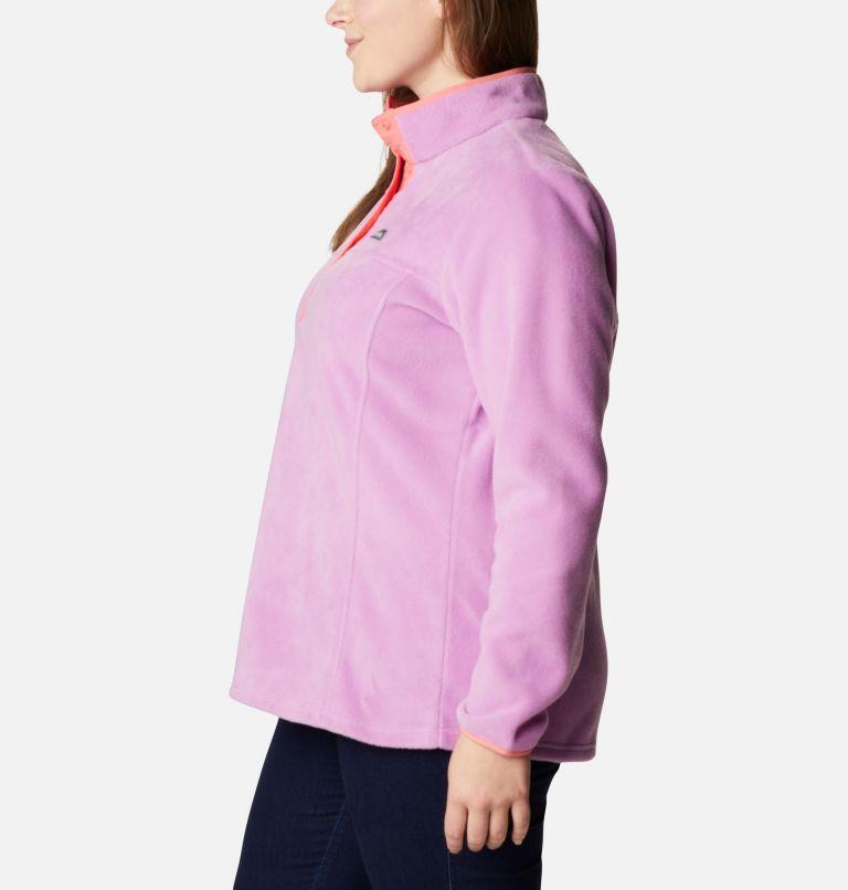 Benton Springs™ 1/2 Snap Pullover | 605 | 2X Women's Benton Springs™ 1/2 Snap Pullover - Plus Size, Blossom Pink, Salmon, a1