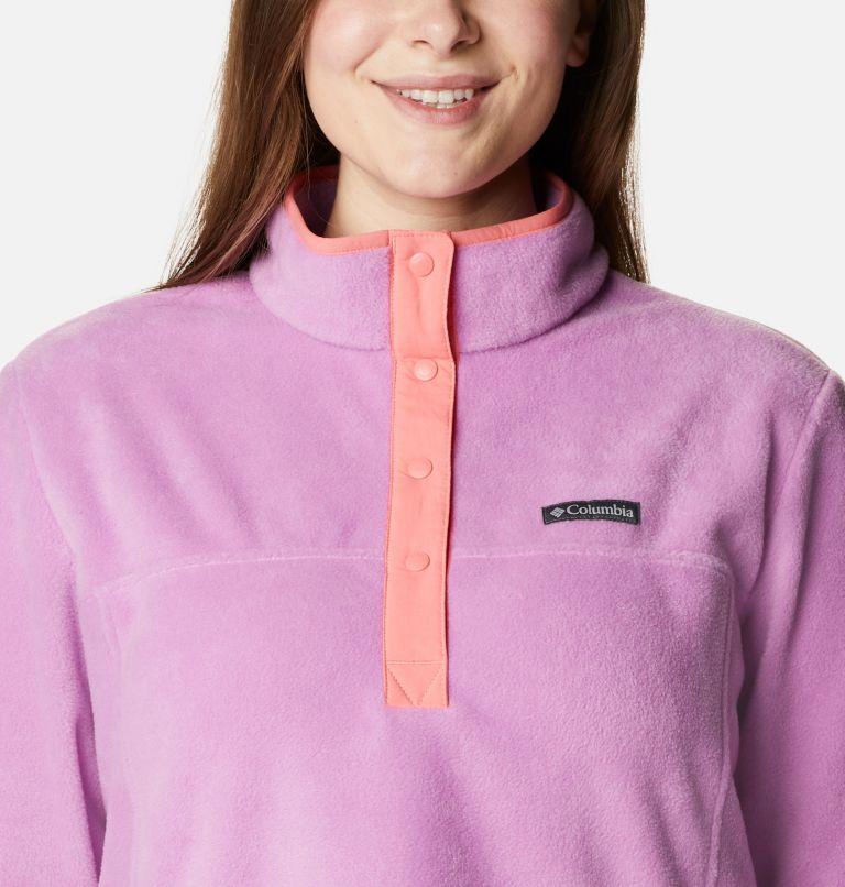 Benton Springs™ 1/2 Snap Pullover | 605 | 2X Women's Benton Springs™ 1/2 Snap Pullover - Plus Size, Blossom Pink, Salmon, a2