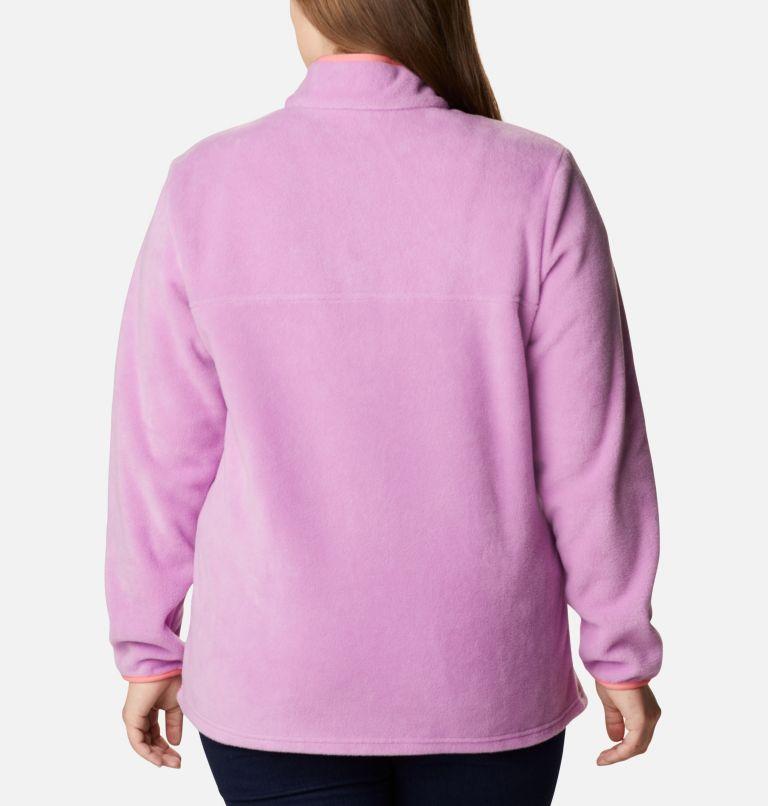 Benton Springs™ 1/2 Snap Pullover | 605 | 2X Women's Benton Springs™ 1/2 Snap Pullover - Plus Size, Blossom Pink, Salmon, back
