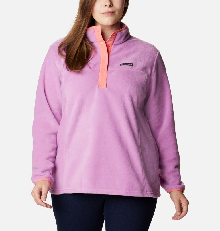Women's Benton Springs™ 1/2 Snap Pullover - Plus Size Women's Benton Springs™ 1/2 Snap Pullover - Plus Size, front
