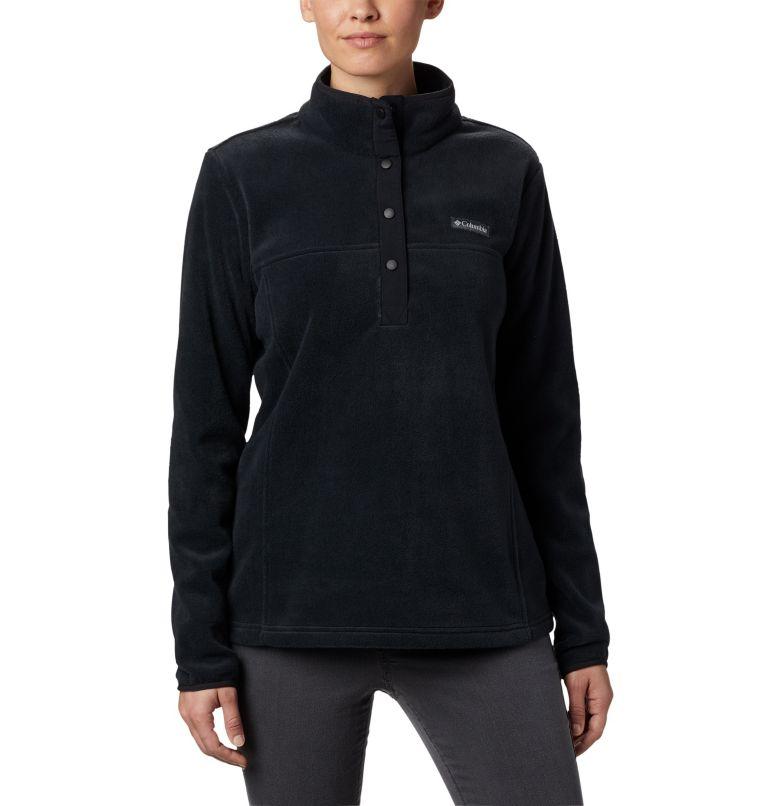 Benton Springs™ 1/2 Snap Pullover   010   PXS Women's Benton Springs™ 1/2 Snap Pullover - Petite, Black, front