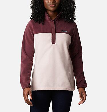 Women's Benton Springs™ Half Snap Pullover - Petite Benton Springs™ 1/2 Snap Pullover | 060 | PXS, Malbec, Mineral Pink, front