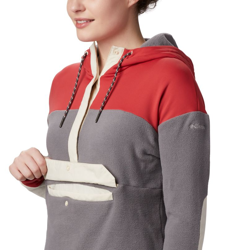 Exploration™ Fleece Anorak | 023 | M Women's Exploration Fleece Anorak, City Grey, Daredevil, a1