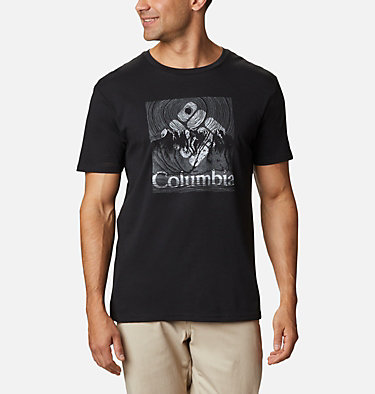 T-shirt Basin Butte™ Short Sleeve Graphic da uomo Basin Butte™ SS Graphic Tee | 010 | S, Black Beaming Range, front