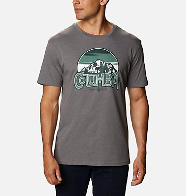 T-shirt Basin Butte™ Short Sleeve Graphic da uomo Basin Butte™ SS Graphic Tee | 010 | S, City Grey Branded Sunshade, front