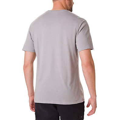 Men's Basin Butte™ Short Sleeve Graphic T-Shirt Basin Butte™ SS Graphic Tee | 010 | S, Columbia Grey Heather, Branded Sunshade, back