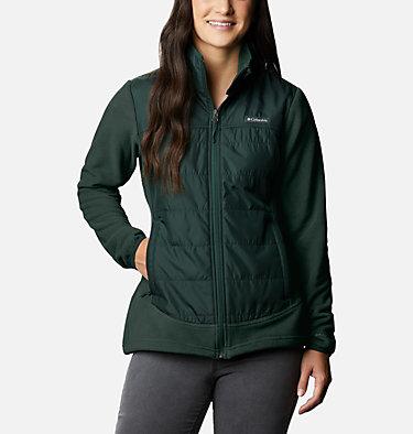Women's Basin Butte™ Fleece Full Zip Jacket Basin Butte™ Fleece Full Zip   370   L, Spruce, front