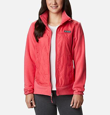 Women's Basin Butte™ Fleece Full Zip Jacket Basin Butte™ Fleece Full Zip   370   L, Bright Geranium, front