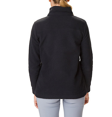Women's Canyon Point Sherpa Half-Zip Fleece Canyon Point™ Sherpa Pullover | 010 | XL, Black, back