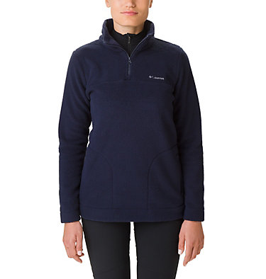 Women's Canyon Point Sherpa Half-Zip Fleece Canyon Point™ Sherpa Pullover | 010 | XL, Dark Nocturnal, front