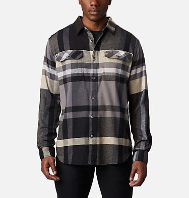 Men's Flare Gun™ Stretch Flannel Shirt Flare Gun™ Stretch Flannel | 664 | XXL, Black Big Check Plaid, front