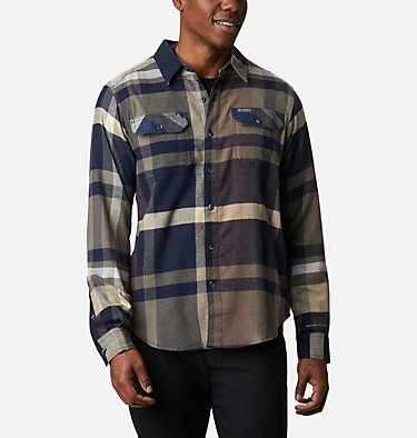 Men's Flare Gun™ Stretch Flannel Shirt Flare Gun™ Stretch Flannel | 664 | XXL, Collegiate Navy Big Check Plaid, front