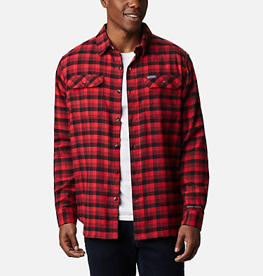 Men's Flare Gun™ Stretch Flannel Shirt Flare Gun™ Stretch Flannel | 664 | XXL, Red Jasper Grid Plaid, front