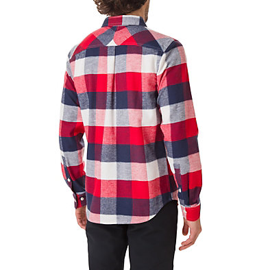 Men's Flare Gun Stretch Flannel Shirt Flare Gun™ Stretch Flannel | 369 | S, Sea Salt Big Check, back