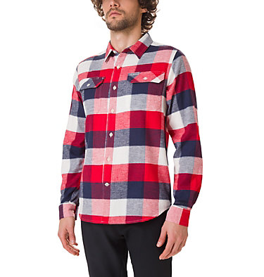 Men's Flare Gun Stretch Flannel Shirt Flare Gun™ Stretch Flannel | 369 | S, Sea Salt Big Check, front
