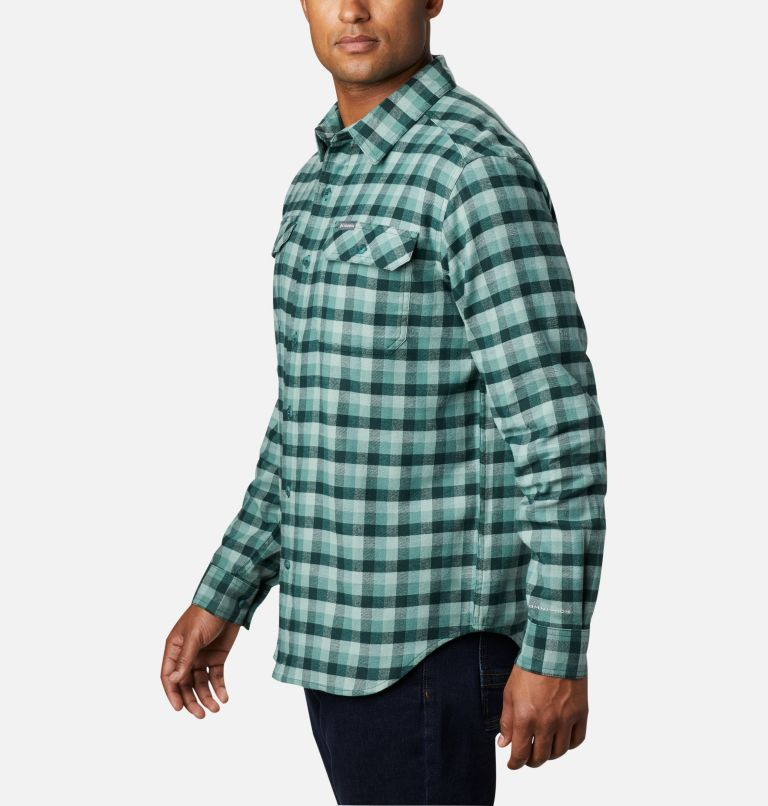 Flare Gun™ Stretch Flannel | 369 | M Camicia Flare Gun Stretch Flannel da uomo, Thyme Green Grid Plaid, a1