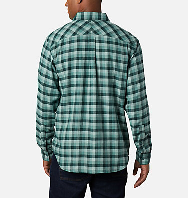 Men's Flare Gun Stretch Flannel Shirt Flare Gun™ Stretch Flannel | 369 | S, Thyme Green Grid Plaid, back