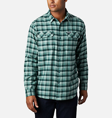 Men's Flare Gun Stretch Flannel Shirt Flare Gun™ Stretch Flannel | 369 | S, Thyme Green Grid Plaid, front