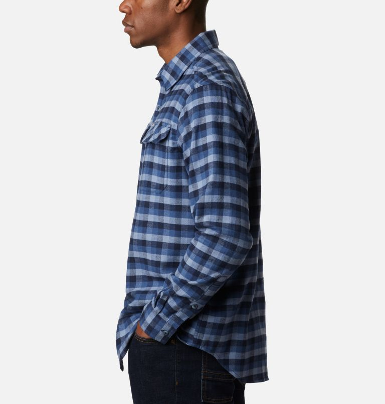 Flare Gun™ Stretch Flannel | 452 | L Camicia Flare Gun Stretch Flannel da uomo, Night Tide Grid Plaid, a1