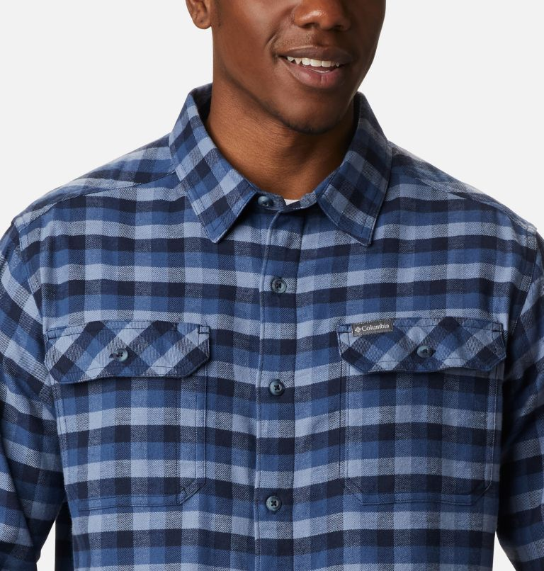 Flare Gun™ Stretch Flannel | 452 | L Camicia Flare Gun Stretch Flannel da uomo, Night Tide Grid Plaid, a2